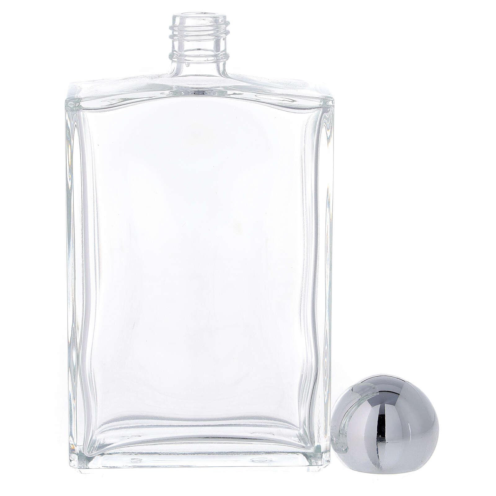 Bouteille rectangulaire pour eau bénite 100 ml verre 25 pcs 3