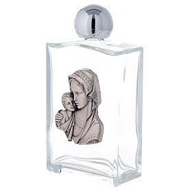 Holy water bottle with Virgin Mary and Baby Jesus 100 ml in glass (25-PIECE box) s2