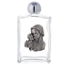 Bouteille eau bénite 100 ml Vierge à l'Enfant rectangulaire 50 pcs verre s1