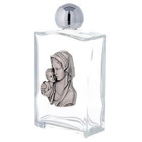 Bouteille eau bénite 100 ml Vierge à l'Enfant rectangulaire 50 pcs verre s2