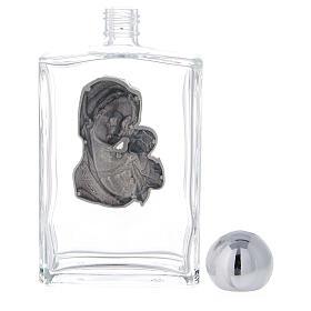 Bouteille eau bénite 100 ml Vierge à l'Enfant rectangulaire 50 pcs verre s3