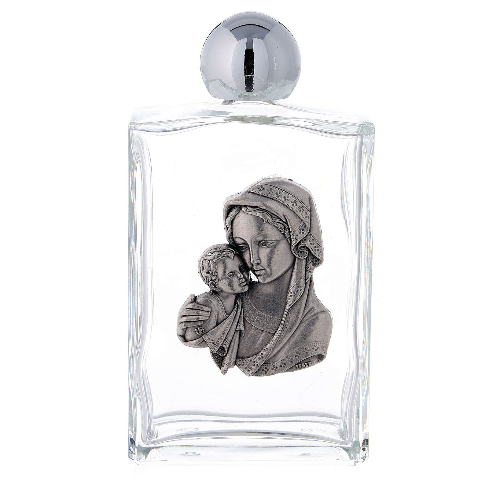 Bottiglietta acquasanta 100 ml Madonna e Bambino (25 PZ.) vetro 3