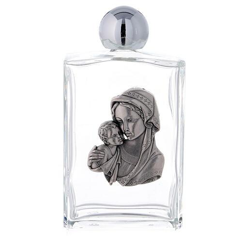 Garrafa rectangular água benta Virgem com Menino 100 ml vidro 25 peças 1