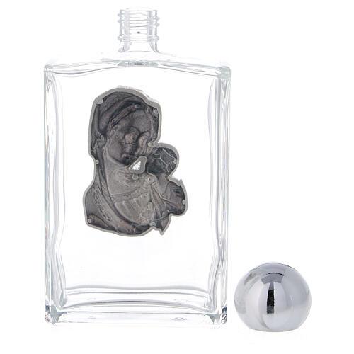Garrafa rectangular água benta Virgem com Menino 100 ml vidro 25 peças 3
