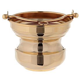 Sceau eau bénite en laiton doré 24K s2