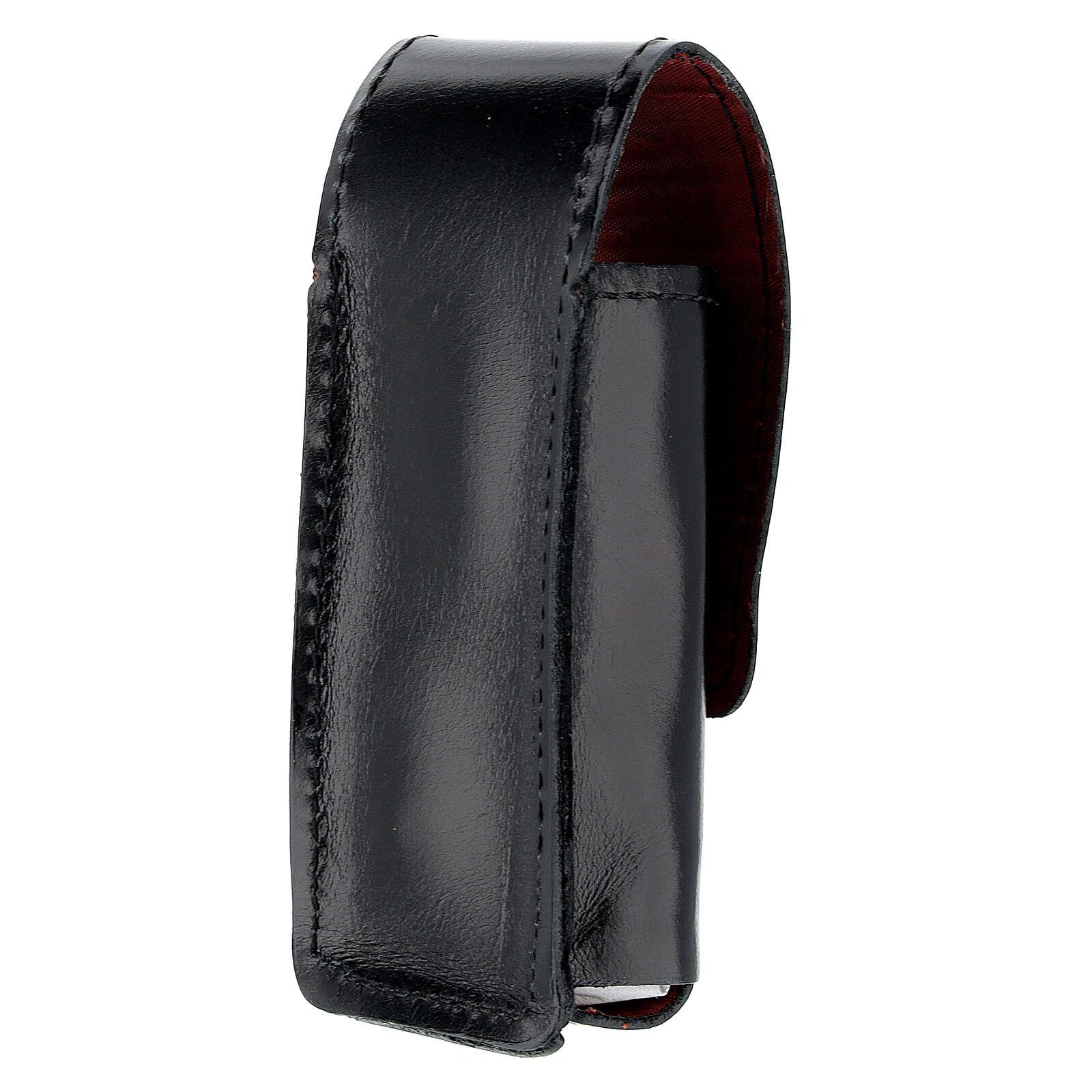 Étui pour goupillon 9 cm cuir véritable noir 3
