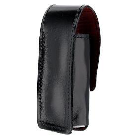 Étui pour goupillon 9 cm cuir véritable noir s2