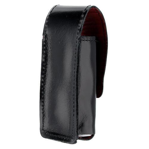 Étui pour goupillon 9 cm cuir véritable noir 2