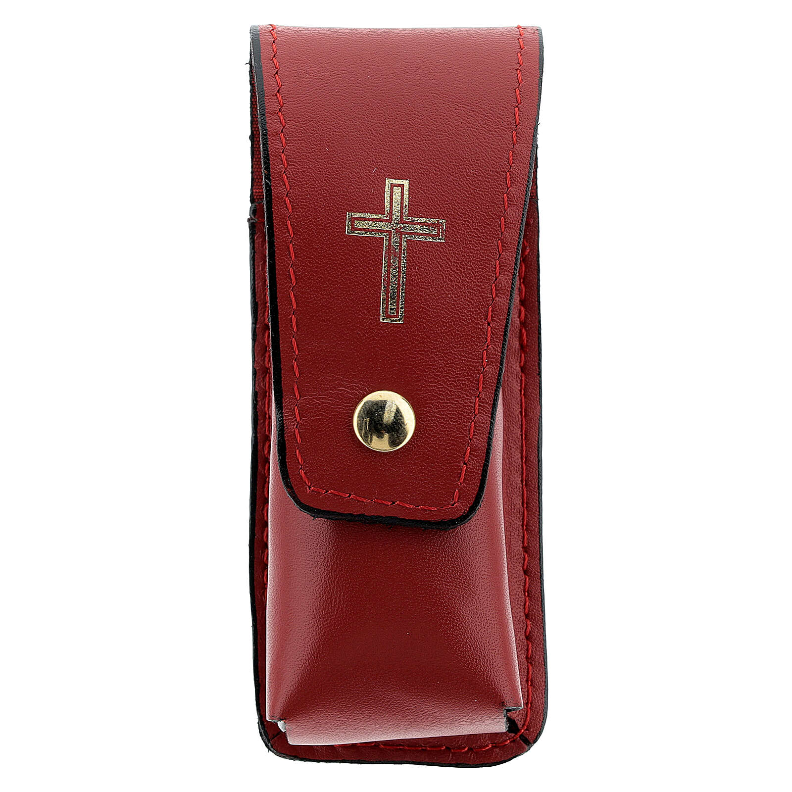 Sprinkler case 3 1/2 in real red leather 3