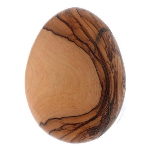 oeuf en bois d'olivier 1