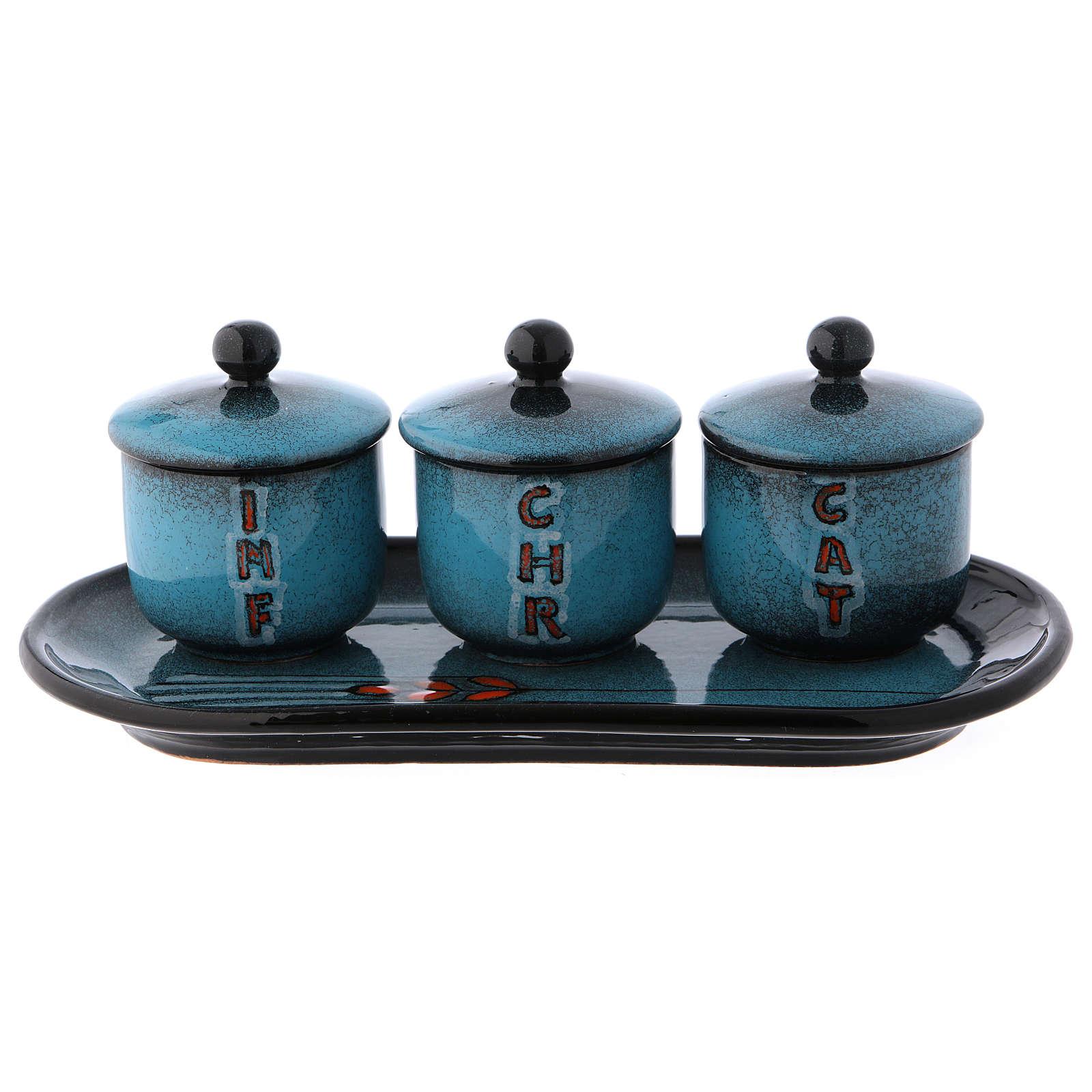 Holy oil stock ceramic set 3