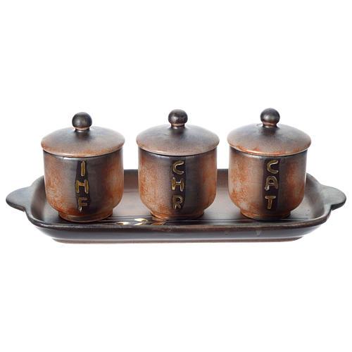 Holy oil stock ceramic set 1