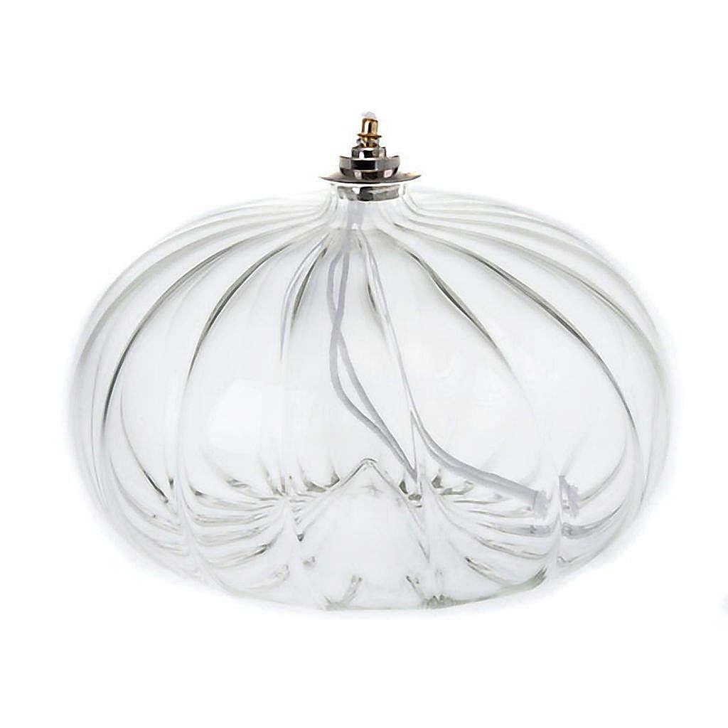 Lampe votive de grande taille en verre soufflé 3