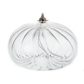 Lampe votive de grande taille en verre soufflé s1