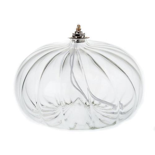 Lampe votive de grande taille en verre soufflé 1