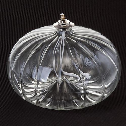 Lampe votive de grande taille en verre soufflé 2