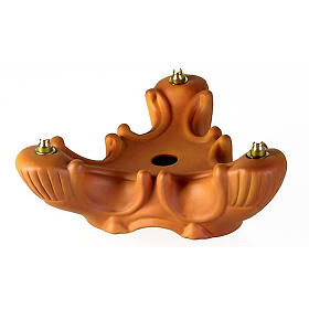 Three-light terracotta porcelain lamp s1