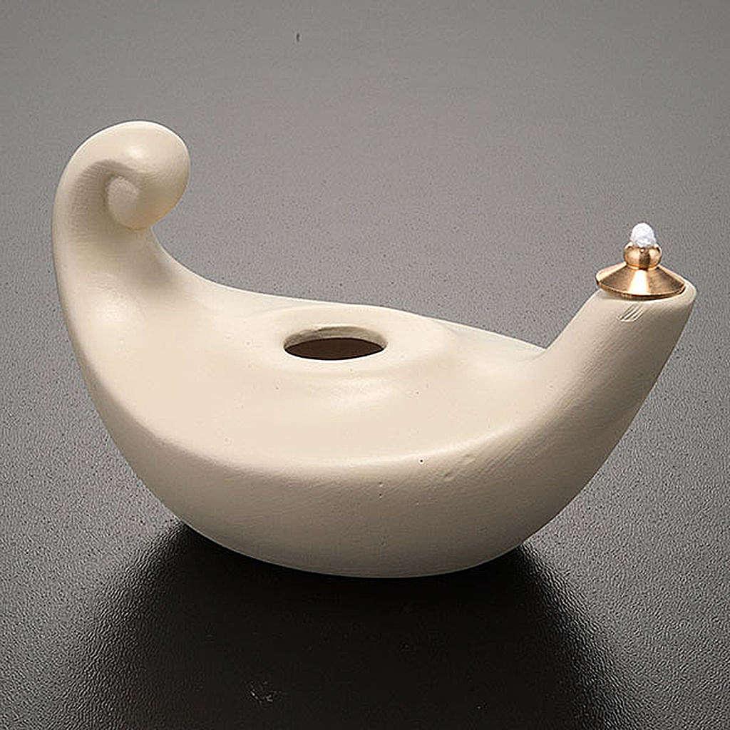 Lâmpada Aladim porcelana marfim pequena 3