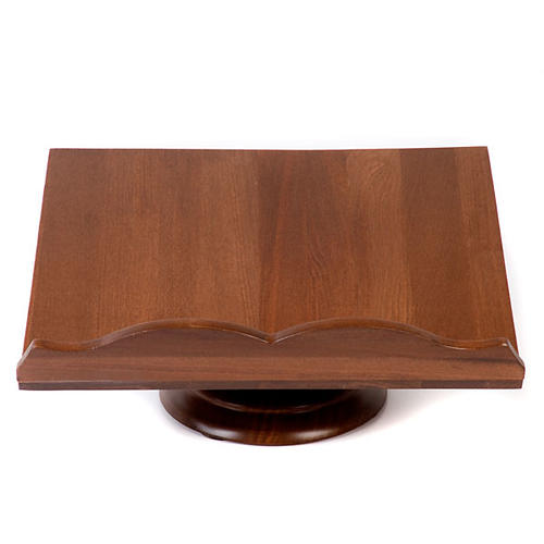 Wood book-stand- fixed and rotating 1