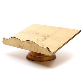 Atril de madera y lámina dorada
