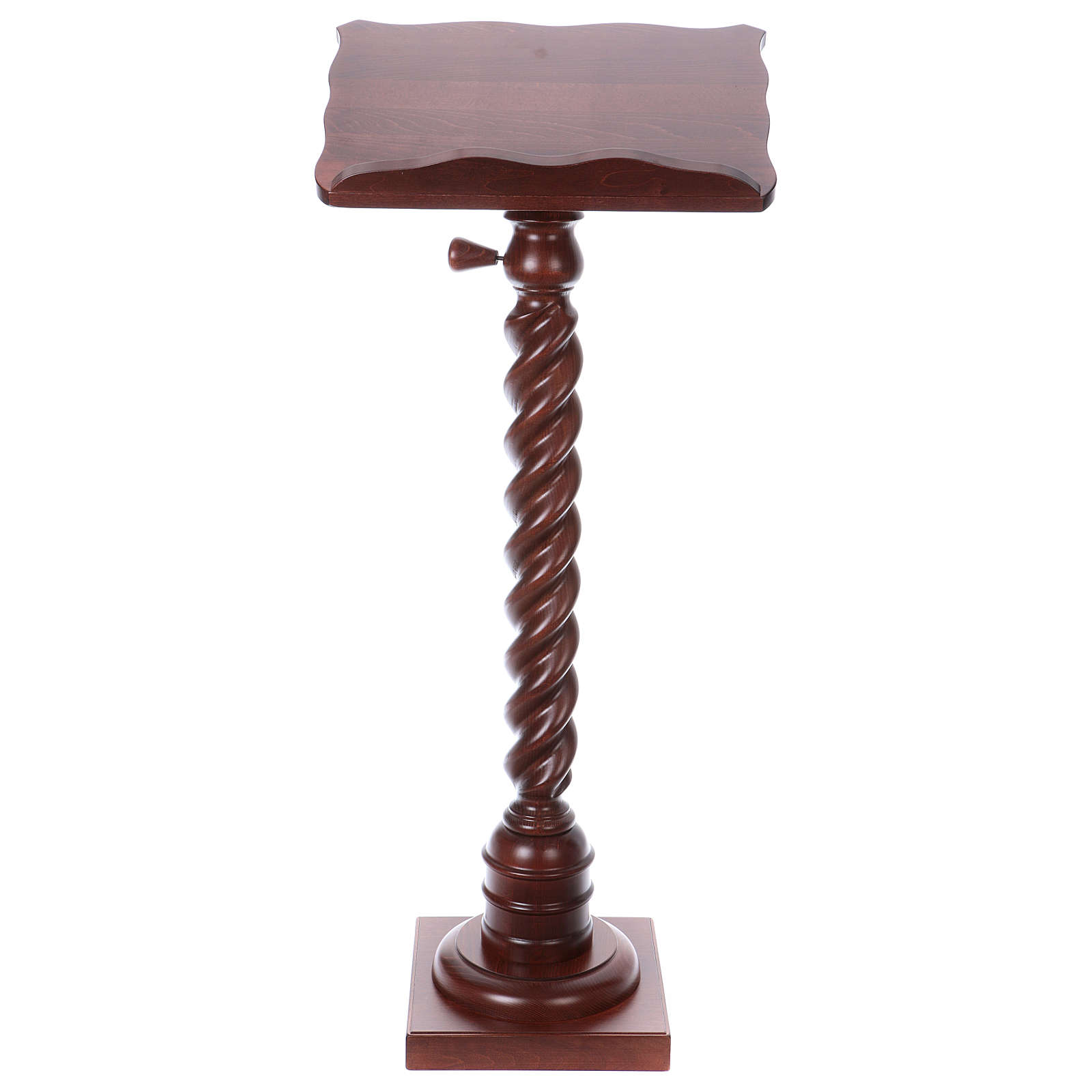 Wood lectern with torchon pedestal 4