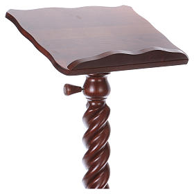 Wood lectern with torchon pedestal s2