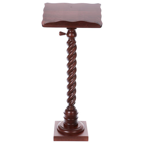 Wood lectern with torchon pedestal 1