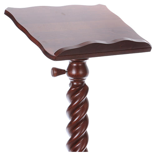 Wood lectern with torchon pedestal 2