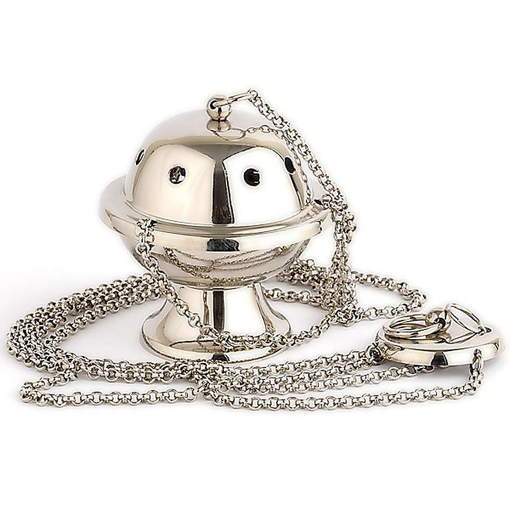 Small silver-plated thurible 3