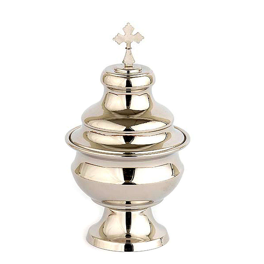 Navette for traditional thurible, nickel plated 3