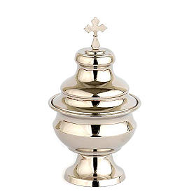 Navette for traditional thurible, nickel plated s1