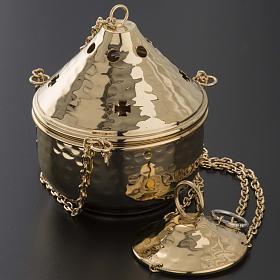 Encensoir repoussé couleur nickelé ou doré s5