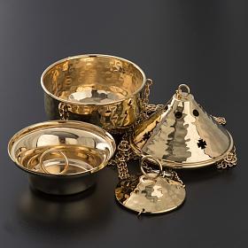 Encensoir repoussé couleur nickelé ou doré s6