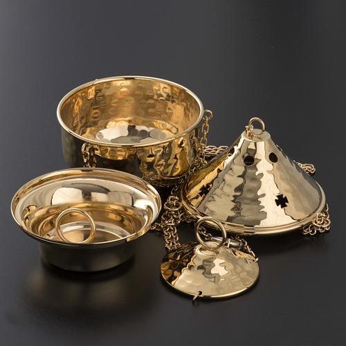 Encensoir repoussé couleur nickelé ou doré 6