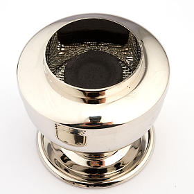 Silver plated charcoal incense burner s2