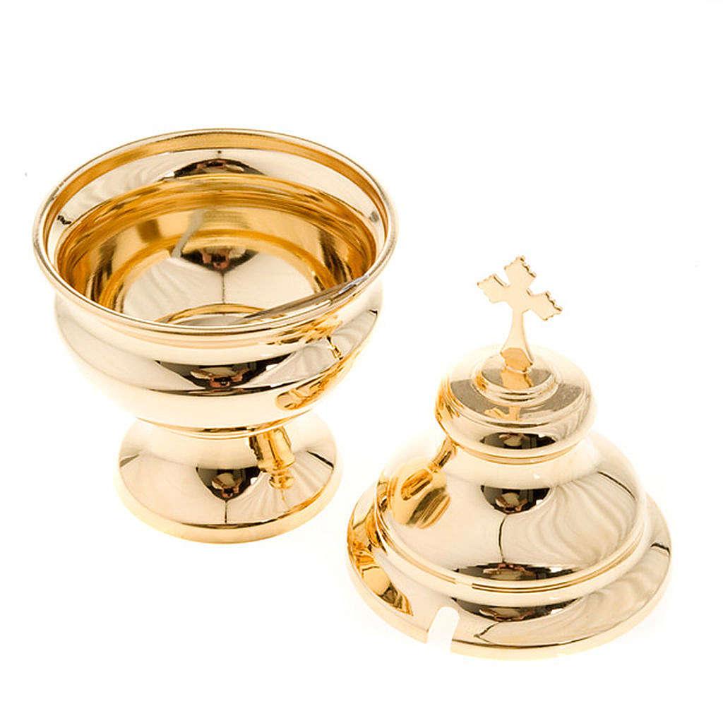 Naveta para incensario clásico dorado 3