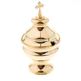 Encensoirs et navettes: Navette à encensoir classique doré
