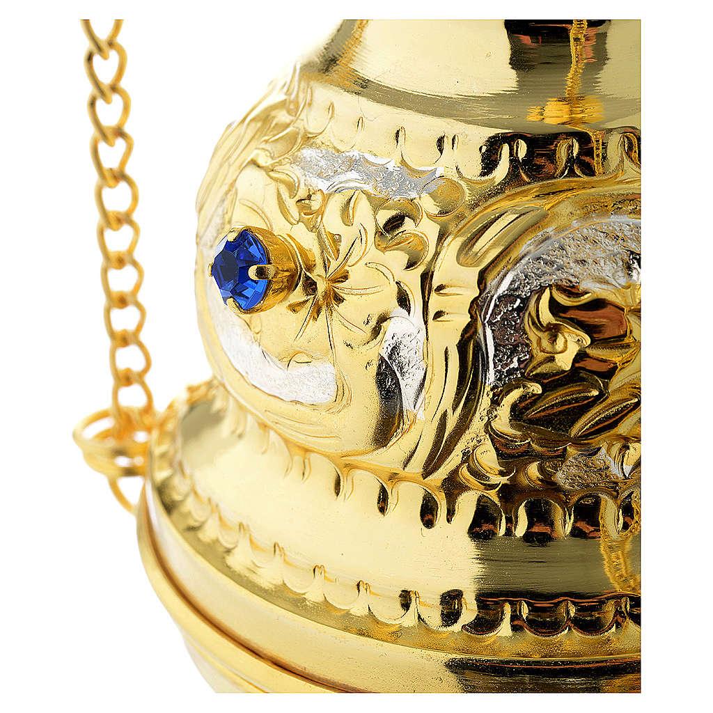 Encensoir style orthodoxe pierres dures 3