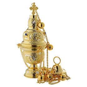 Encensoir style orthodoxe pierres dures s1