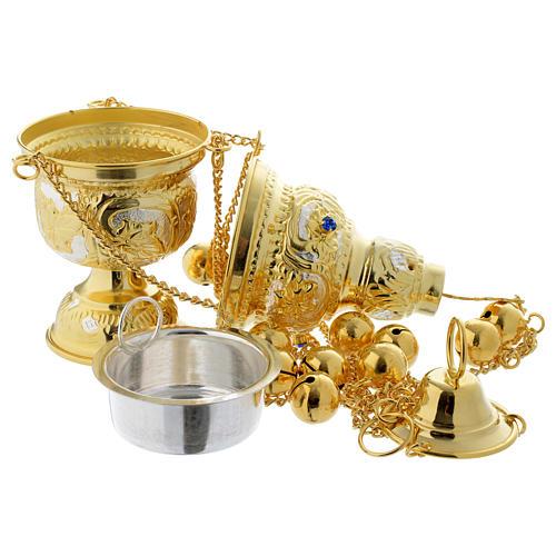 Encensoir style orthodoxe pierres dures 5