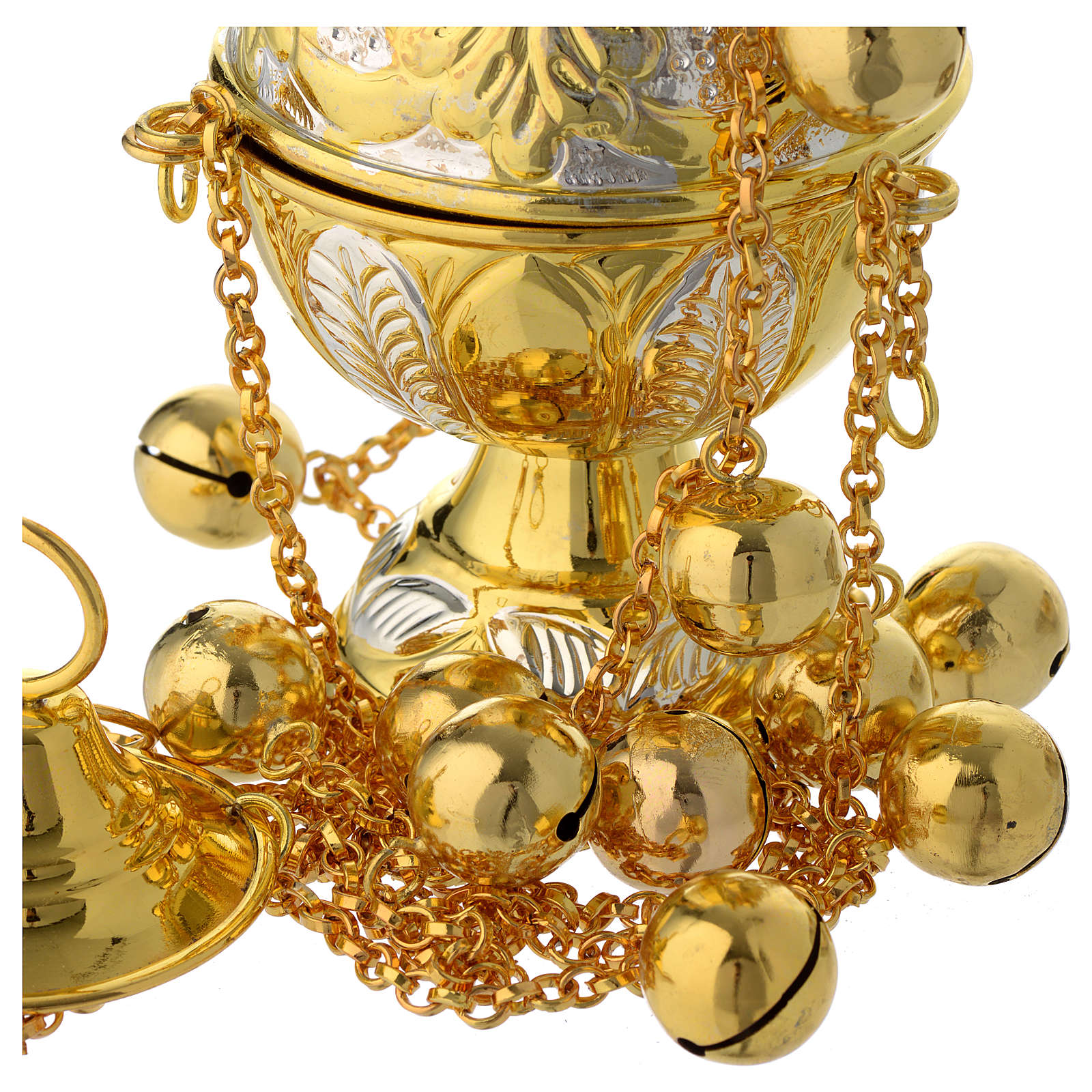 Encensoir style orthodoxe or et argent 3