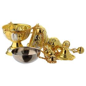 Encensoir style orthodoxe or et argent s3