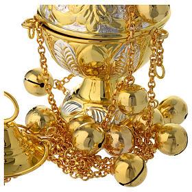 Encensoir style orthodoxe or et argent s4