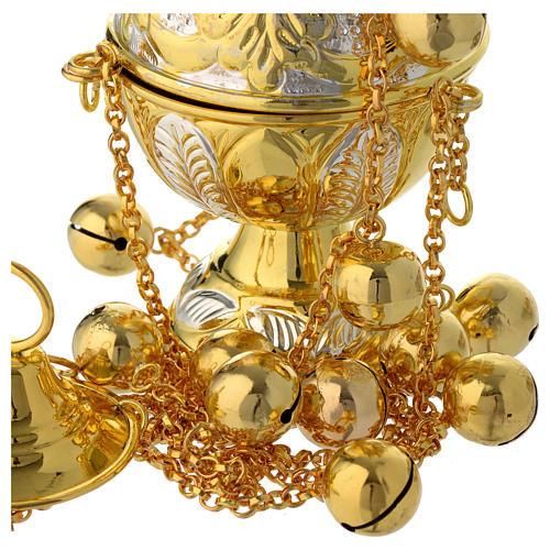 Encensoir style orthodoxe or et argent 4