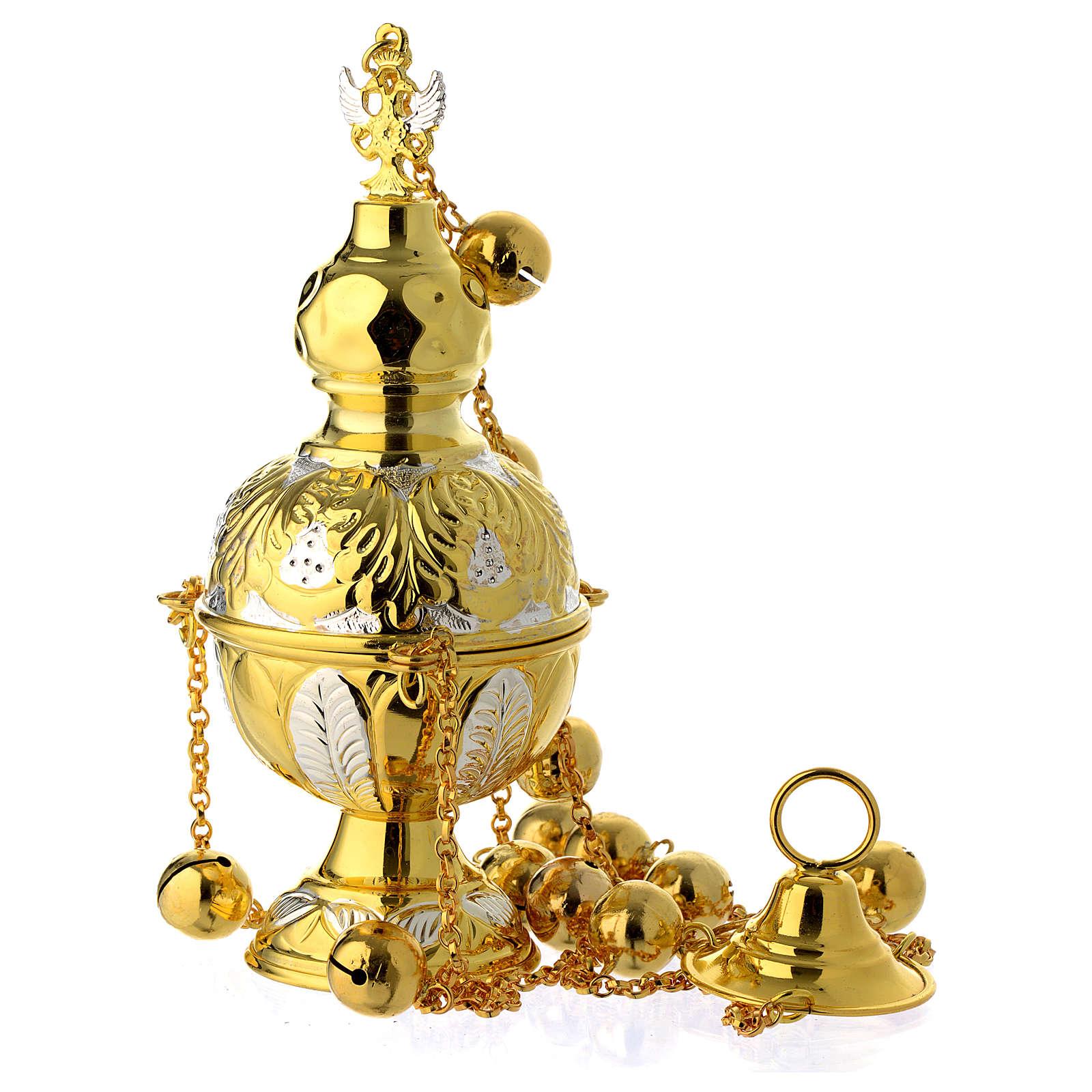 Turibolo stile ortodosso oro argento 3