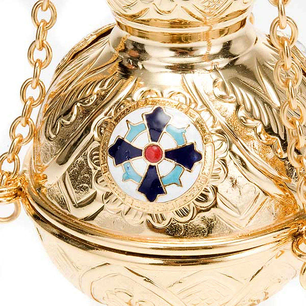 Orthodox style cross thurible 3