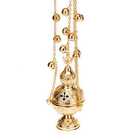 Orthodox style cross thurible s4