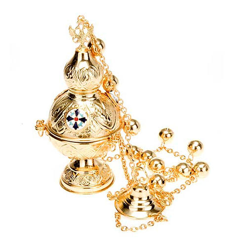 Orthodox style cross thurible 1