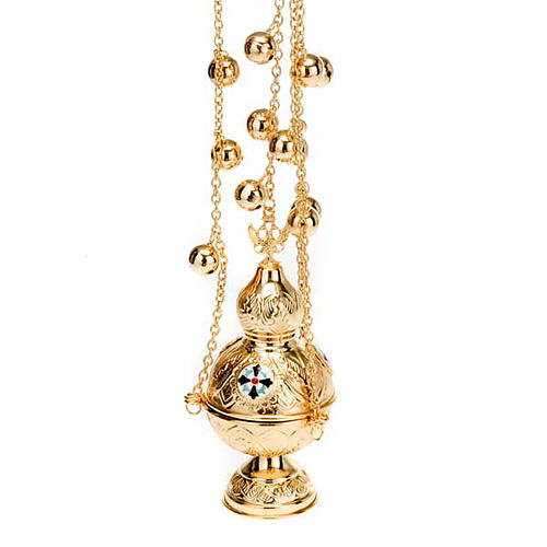 Orthodox style cross thurible 4