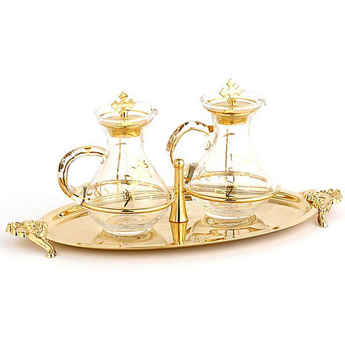 Cruet set with brass tray 1